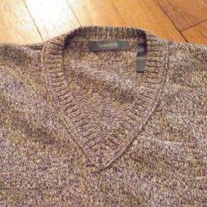Liz Claiborne Brown Marled V Neck Sweater XL